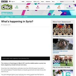 What's happening in Syria? - CBBC Newsround
