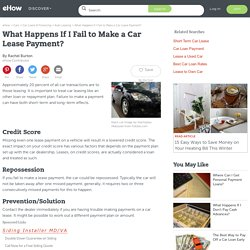 What Happens If I Fail to Make a Car Lease Payment?