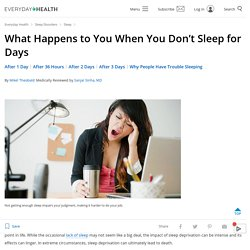 What Happens When You Don't Sleep for Days