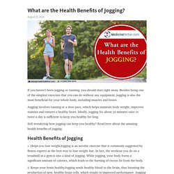 What are the Health Benefits of Jogging?