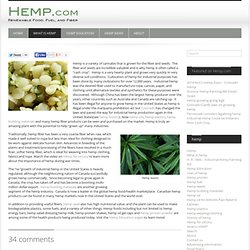 What is hemp?-HEMP
