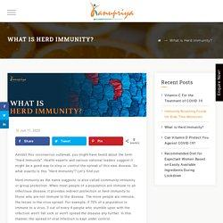 What is Herd Immunity? - Kanupriya