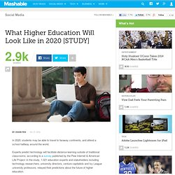 What Higher Education Will Look Like in 2020 [STUDY]