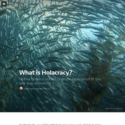 What is Holacracy? — About Holacracy