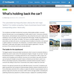What's holding back the car?