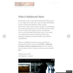 Holofractal Music Project