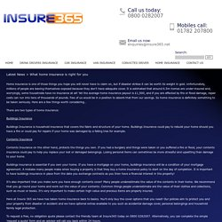 What home insurance is right for you