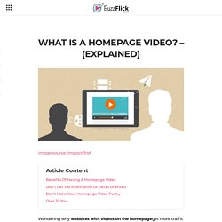 What's A Homepage Video? – (Explained)