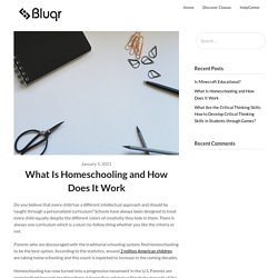 What Is Homeschooling and How Does It Work – Bluqr