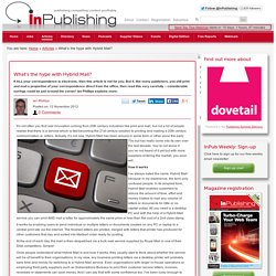 What's the hype with Hybrid Mail?: InPublishing