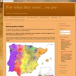 For what they were... we are: Iberian genetic clusters