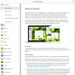 What is iCloud? - iCloud Help