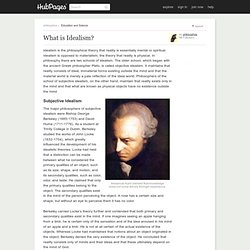What is Idealism?