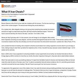 What If Iran Cheats?