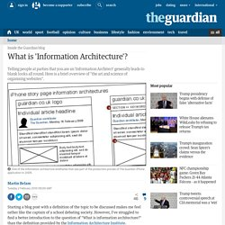 What is 'Information Architecture'?