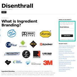 What is Ingredient Branding?