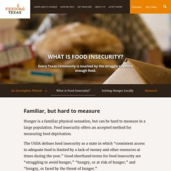 What is Food Insecurity?