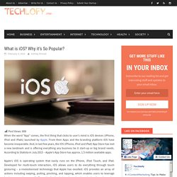 What is iOS? Why it's So Popular? - Techlofy
