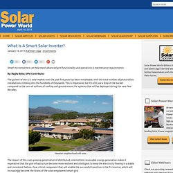 What Is A Smart Solar Inverter?