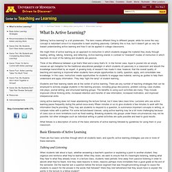 What Is Active Learning? este articulo me parecio completo para entender lo que es aprendizaje activo