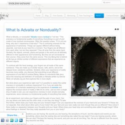 What Is Advaita or Nonduality?