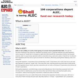 What is ALEC? - ALEC Exposed