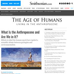 What is the Anthropocene and Are We in It?