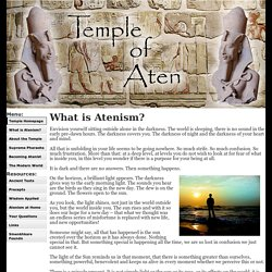 What is Atenism?