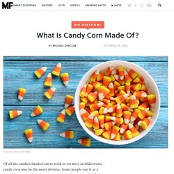 What Is Candy Corn Made Of?