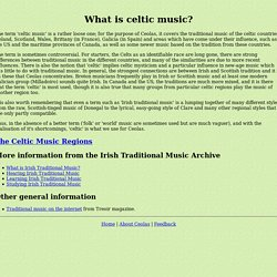 What is celtic music?