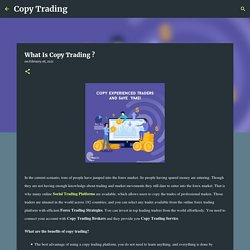 What Is Copy Trading ?