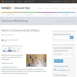 What Is Crowdfunding? [FAQs]