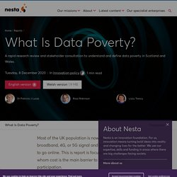 Mélodie - What Is Data Poverty?