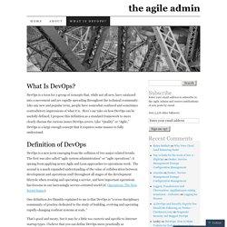 the agile admin