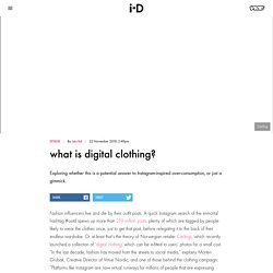 What is digital clothing?