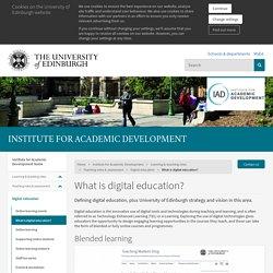 What is digital education?