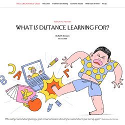 What Is Distance Learning For?