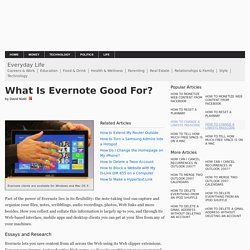 What Is Evernote Good For?