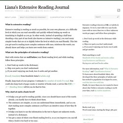 What Is Extensive Reading?