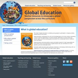What is global education?