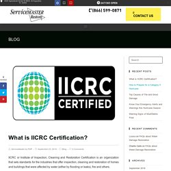 What is IICRC Certification?