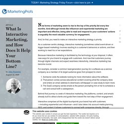 What Is Interactive Marketing?