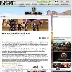 What is Interdependence in MMOs?