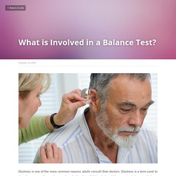 What is Involved in a Balance Test?