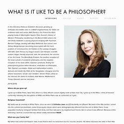What Is It Like to Be a Philosopher?