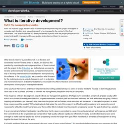 What is iterative development?