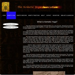 What Is Kemetic Yoga?