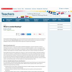 What Is Leveled Reading?