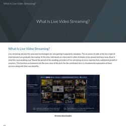 What Is Live Video Streaming?