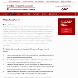 What Is News Literacy? – Center for News Literacy